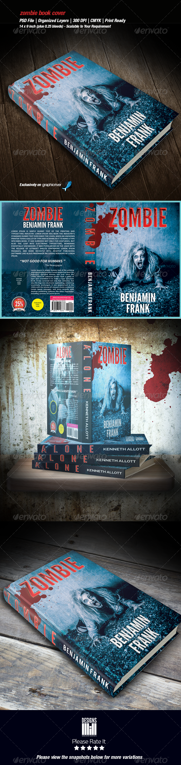 GraphicRiver Zombie Book Cover 01 8562357