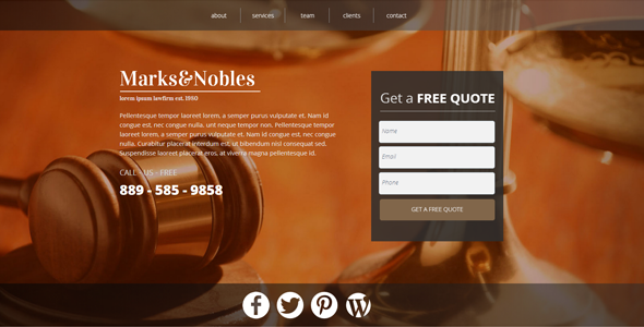 ThemeForest Law Firm Landing Page 8562385