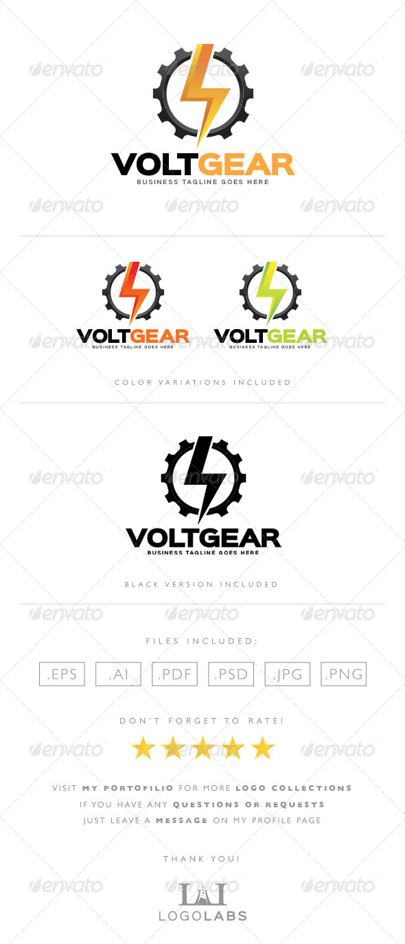 GraphicRiver Electric Gear Logo 8562438