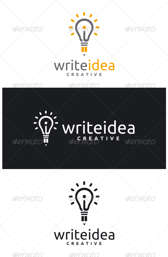 GraphicRiver Write Idea Logo 8562447