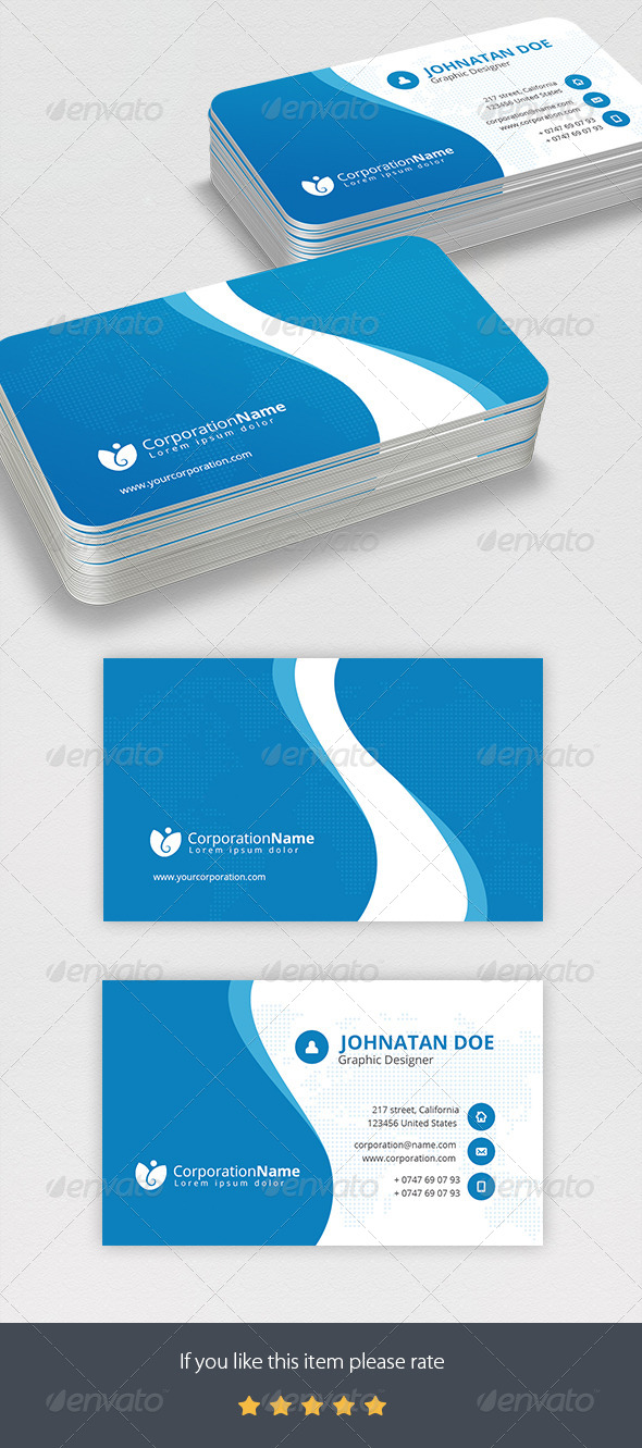 GraphicRiver Corporate Business Card 8562450