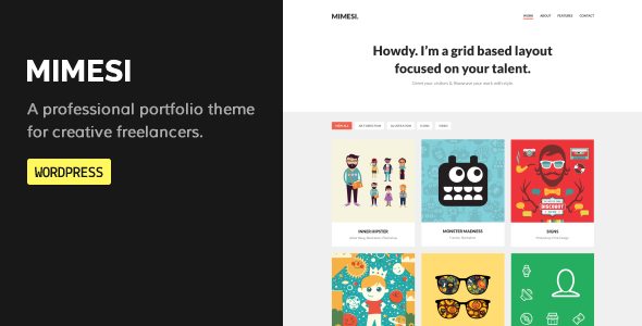 MIMESI - Creative Portfolio Theme for WordPress - Portfolio Creative