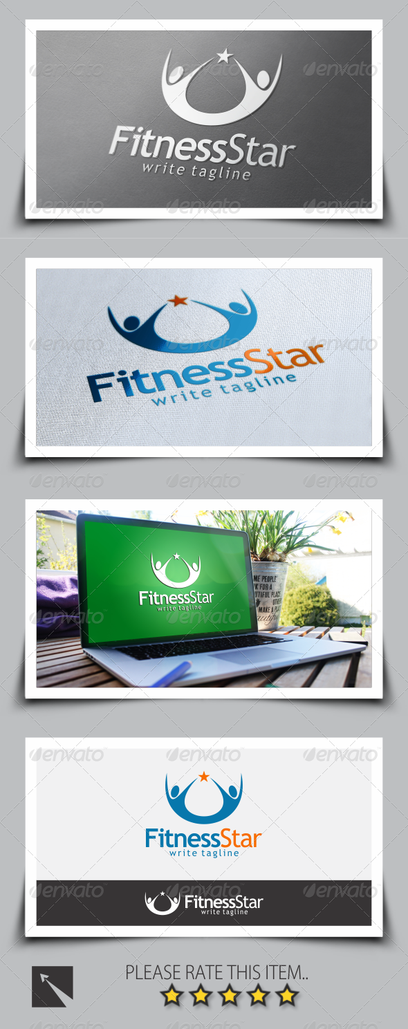 Star Fitness Logo Template
