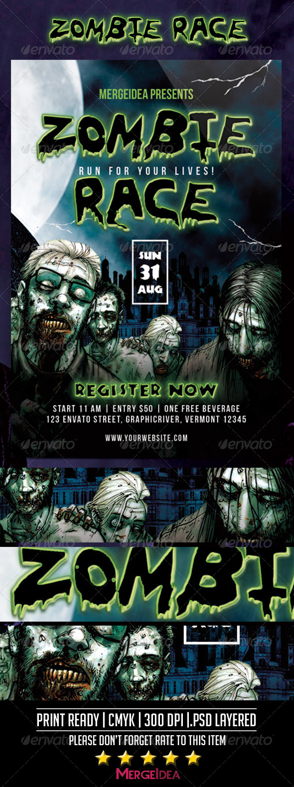 GraphicRiver Zombie Race Flyer 8562651