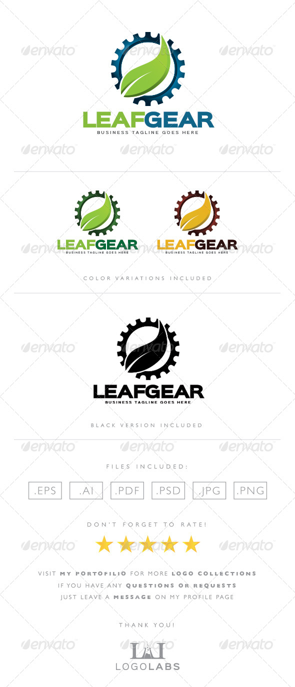 GraphicRiver Nature Gear Logo 8562674