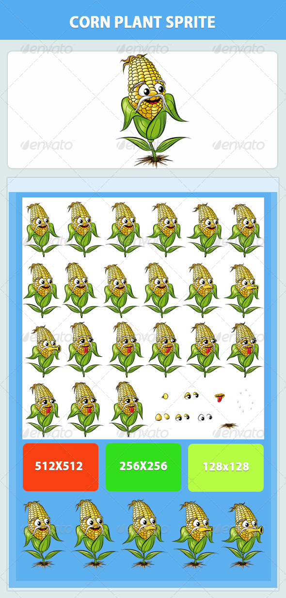 GraphicRiver Corn Plant Game Sprite 8562690