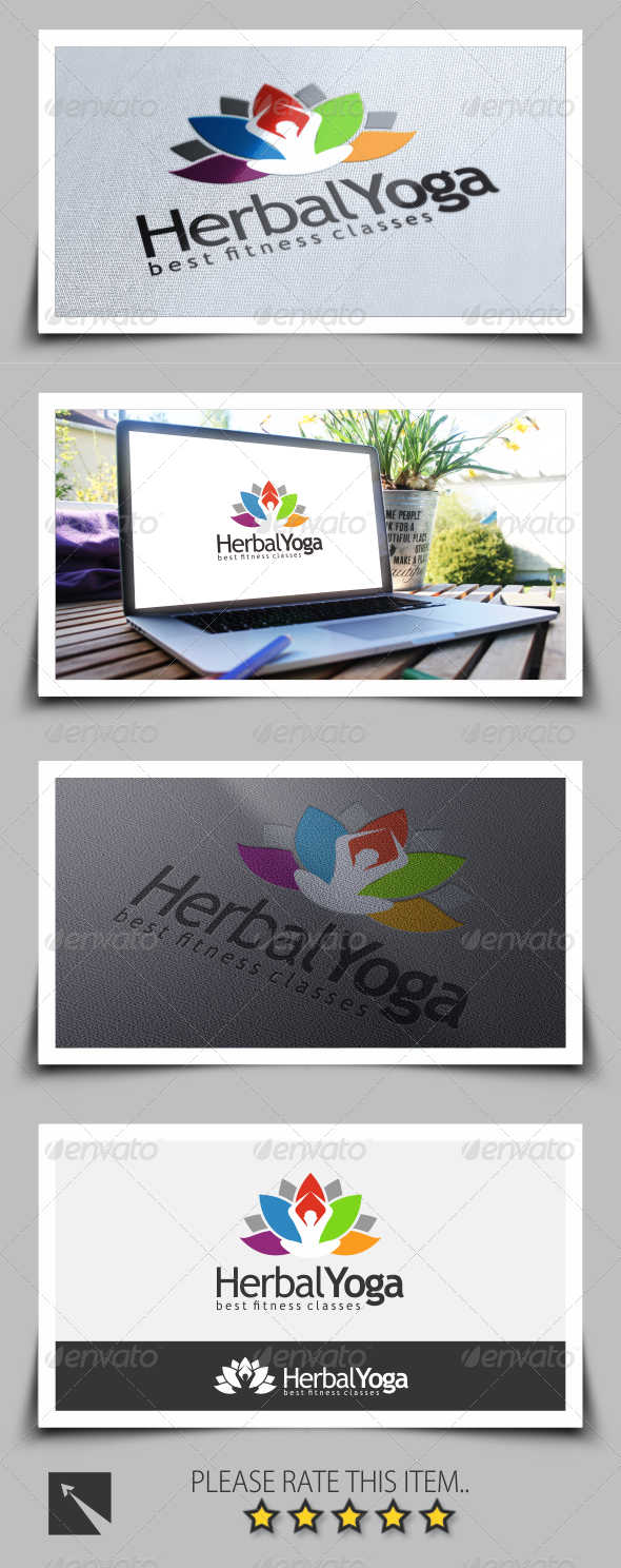 GraphicRiver Herbal Spa & Yoga Logo Template 8562691