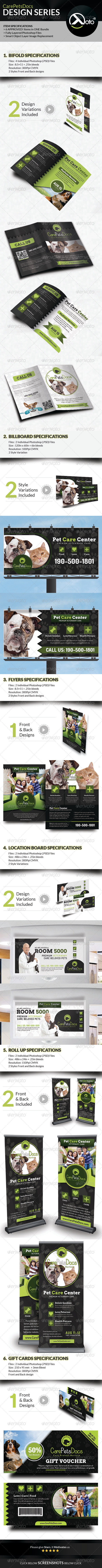GraphicRiver Care Pets Docs Veterinary Design Series Bundle 8562834