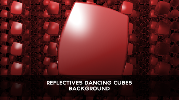Reflectives Red Dancing Cubes Background