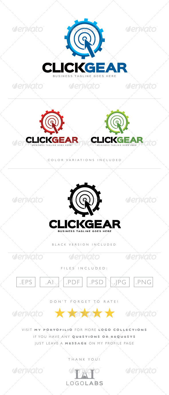 GraphicRiver Click Gear Logo 8562896