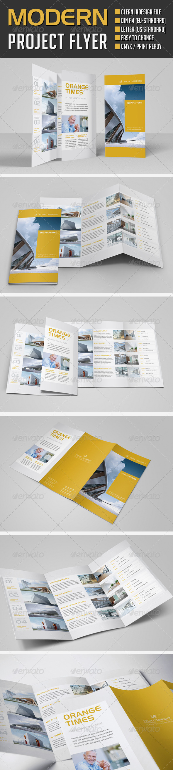 GraphicRiver Modern Project Trifold Flyer 8562945