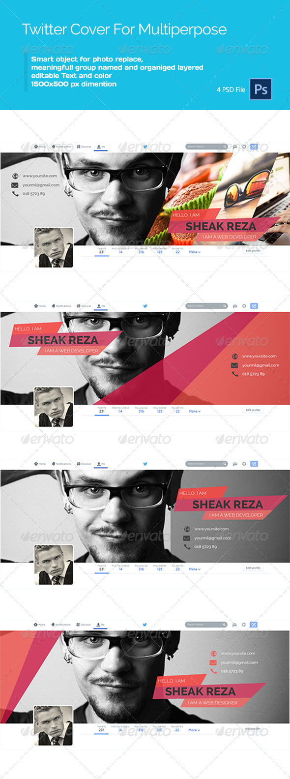 GraphicRiver Personal Twitter Cover 8550447