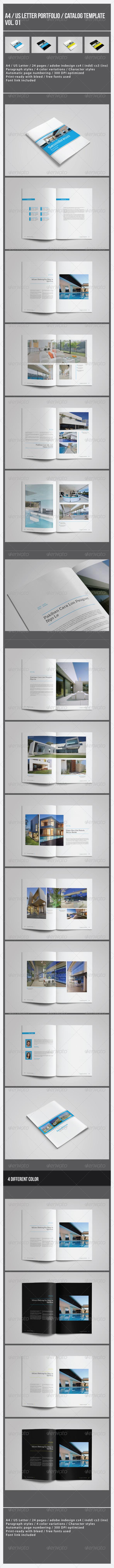 GraphicRiver Portrait Portfolio Catalog Template Vol 01 8562975