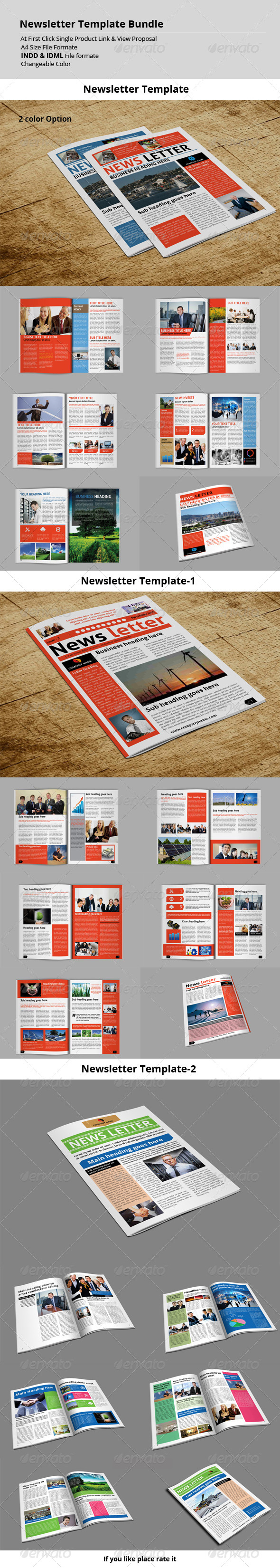 GraphicRiver Newsletter Template Bundle 8563000