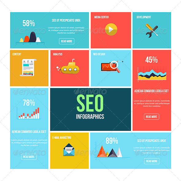GraphicRiver Flat Search Engine Optimization Infographics 8552623