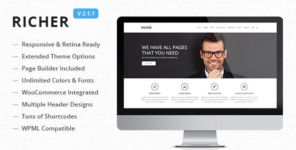 Richer - Responsive Multi-Purpose Theme - Corporate WordPress