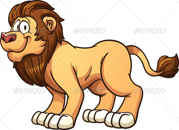 GraphicRiver Cartoon Lion 8563126
