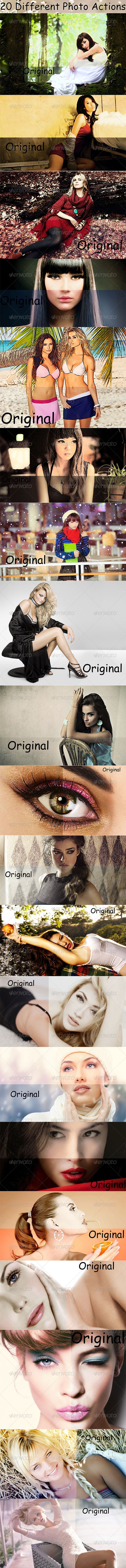 GraphicRiver 20 Different Photo Actions 8563129