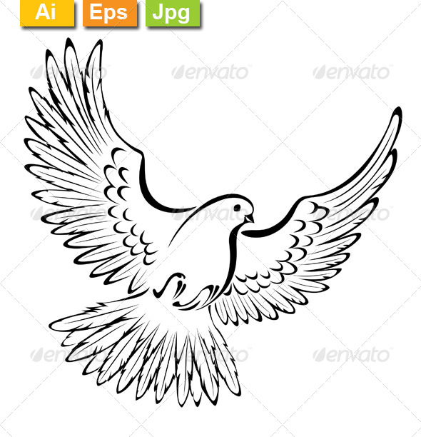 GraphicRiver Stylized Dove 8563130
