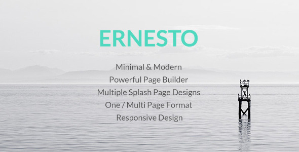 Ernesto is a clean and modern One or Multi Page WordPress theme. The theme uses the powerful Twitter's Bootstrap 3 and takes advantage of its features: gr