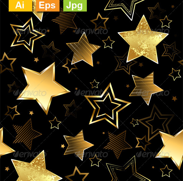GraphicRiver Seamless with Golden Stars 8563272