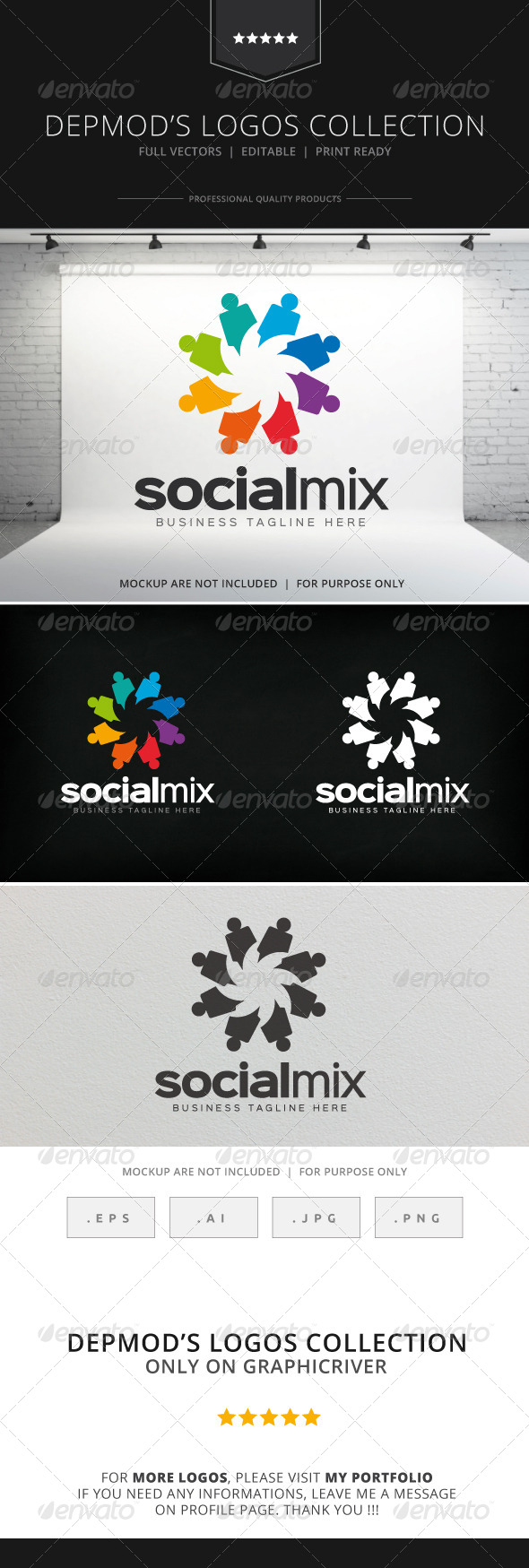 GraphicRiver Social Mix Logo 8563292