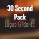 30 Second Ident Pack - AudioJungle Item for Sale