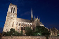 Notre Dame de Paris cathedral at night - PhotoDune Item for Sale