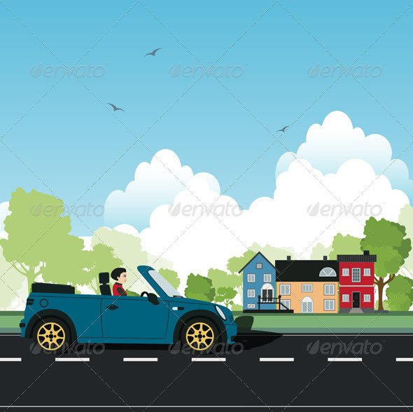 GraphicRiver Women Driving 8563432