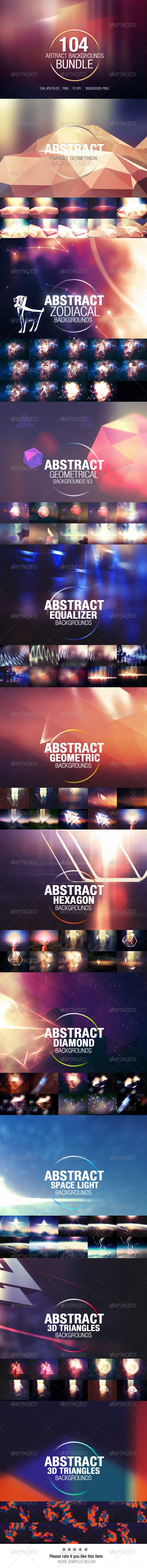 GraphicRiver 104 Abstract Backgrounds Bundle 8563460