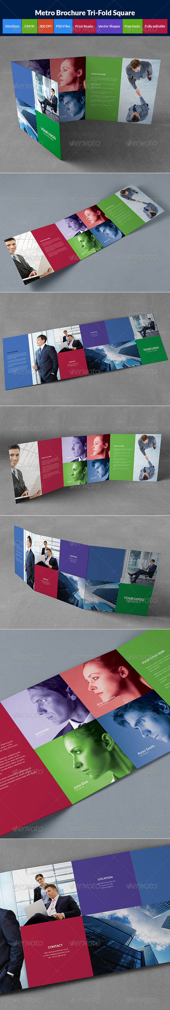 GraphicRiver Metro brochure tri-fold square 8563474
