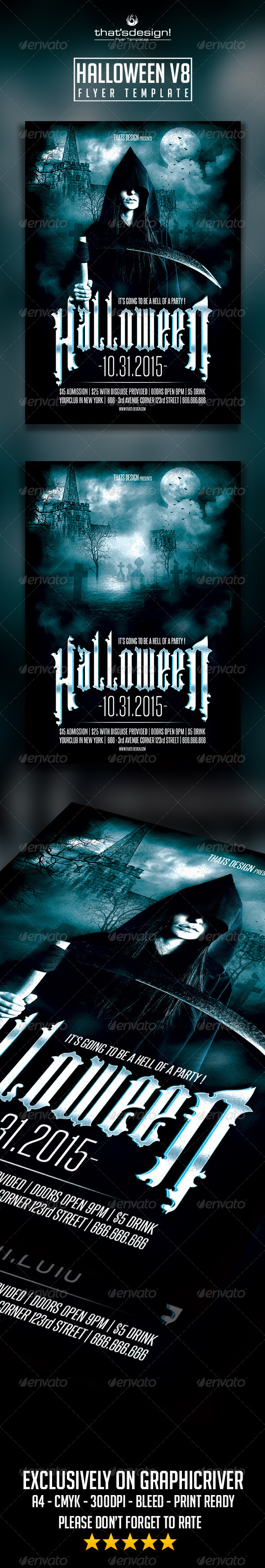 GraphicRiver Halloween Flyer Template V8 8563475