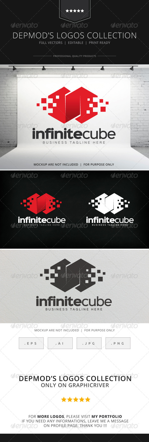 GraphicRiver Infinite Cube Logo 8563604
