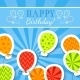 Happy Birthday Postcard with Balloons - GraphicRiver Item for Sale