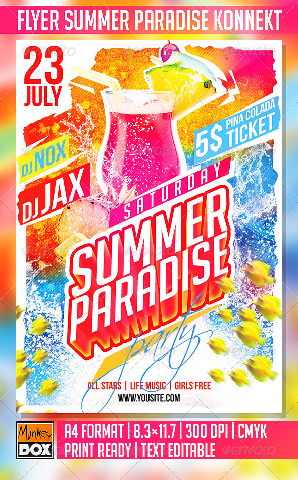 GraphicRiver Flyer Summer Paradise Konnekt 8560912
