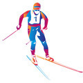 Vector illustration of a colorful skier - PhotoDune Item for Sale