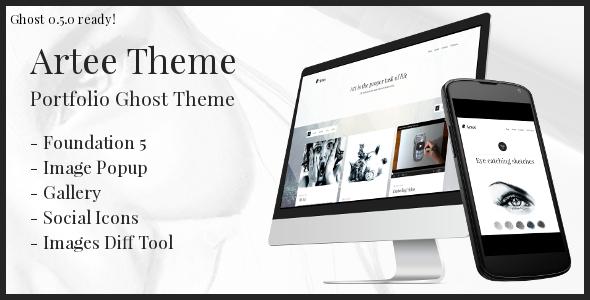 Artee: Portfolio Ghost Theme - Ghost Themes Blogging