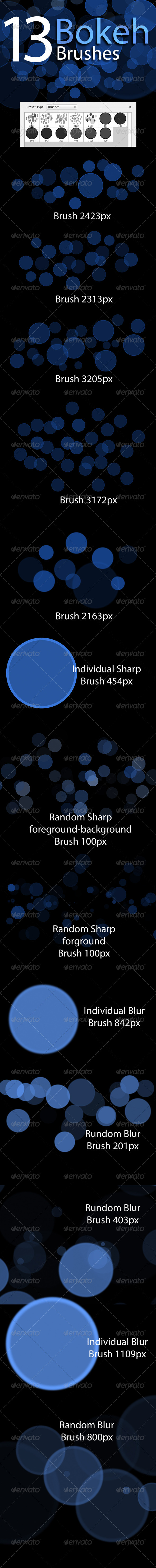 GraphicRiver Bokeh Brushes 8563890