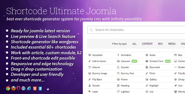 Intensy - Multipurpose Joomla Template