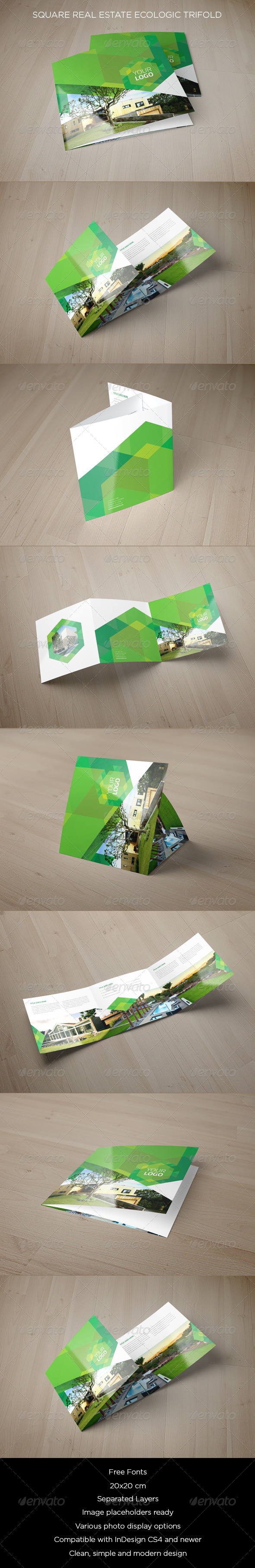 GraphicRiver Square Real Estate Ecologic Trifold 8563898