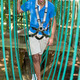 Man climbs over obstacles at high rope court - PhotoDune Item for Sale