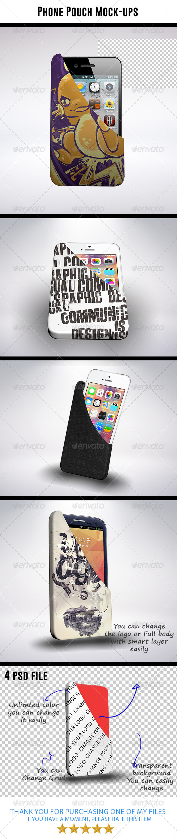 GraphicRiver Phone Pouch Mock-ups 8563934