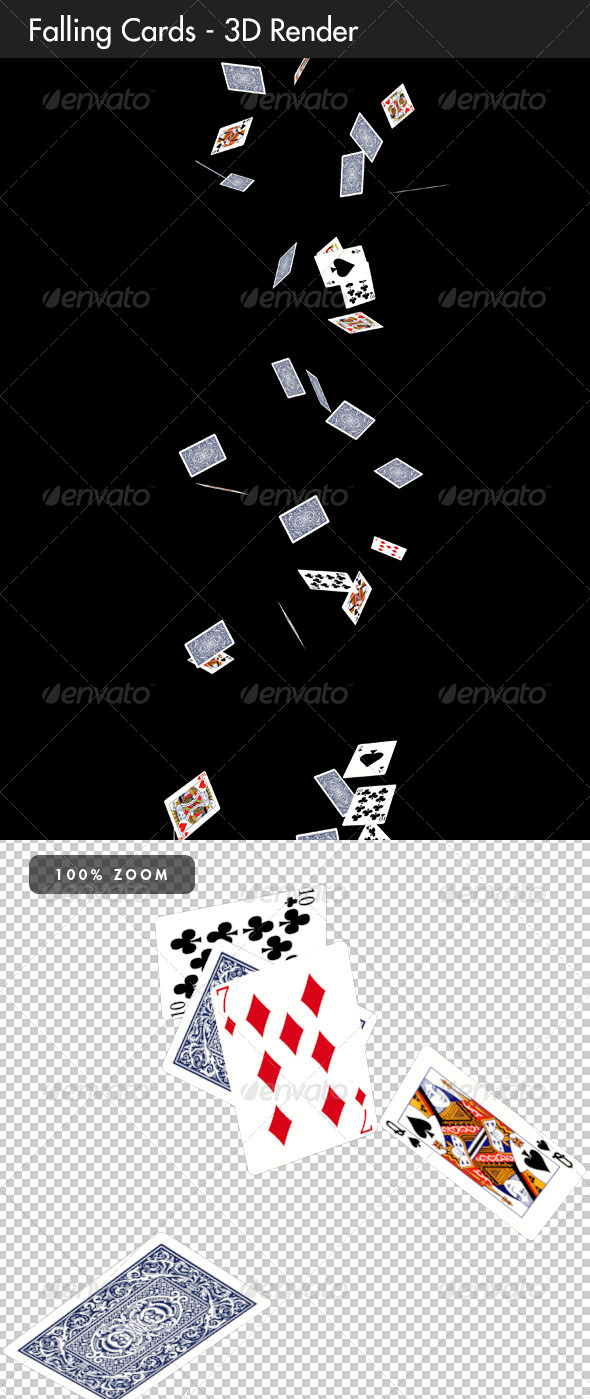 GraphicRiver Falling Cards 8563983
