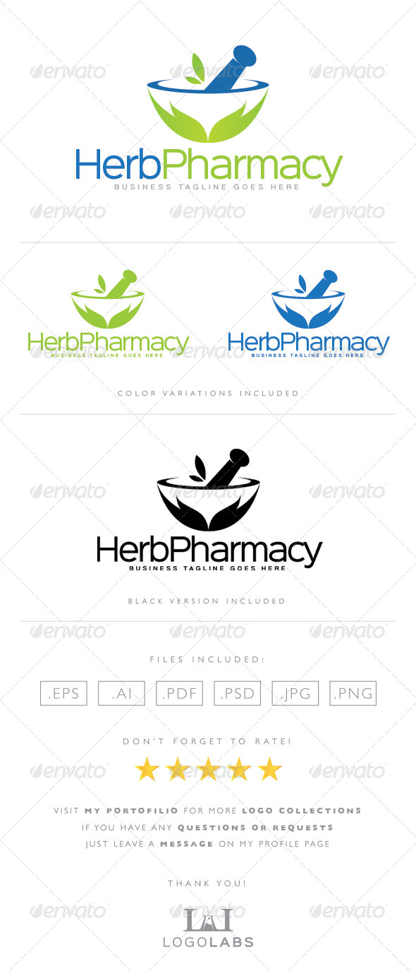 GraphicRiver Pharmacy Logo 8563988