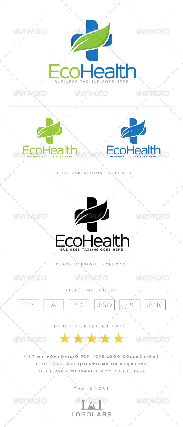 GraphicRiver Health Logo 8564004