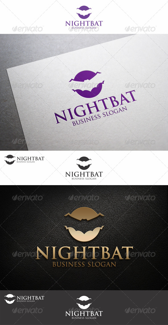 GraphicRiver Night Bat Creative Logo Template 8564010