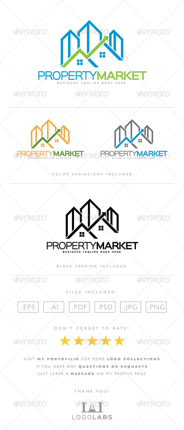 GraphicRiver Property Market Stock Logo 8564013