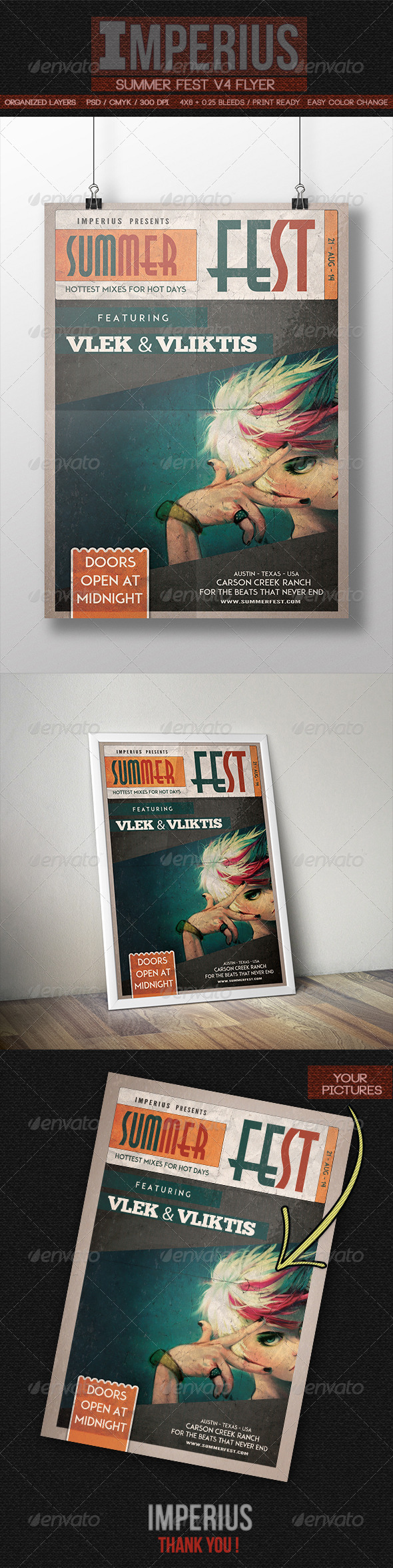 Summer Fest V4 - Flyers Print Templates