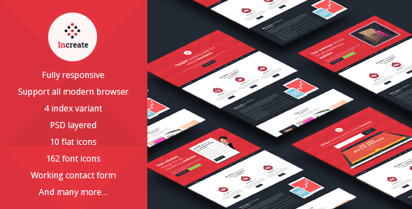 Increate-Onepage and multipurpose landing page - Landing Pages Marketing