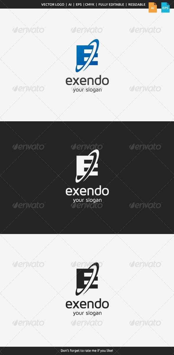 GraphicRiver Exendo E Logo 8564381